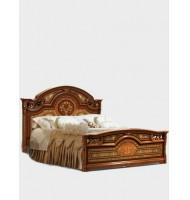 Кровать 2-спальная (1,6 м) (2 спинки — шелкография) без лежака и матраца